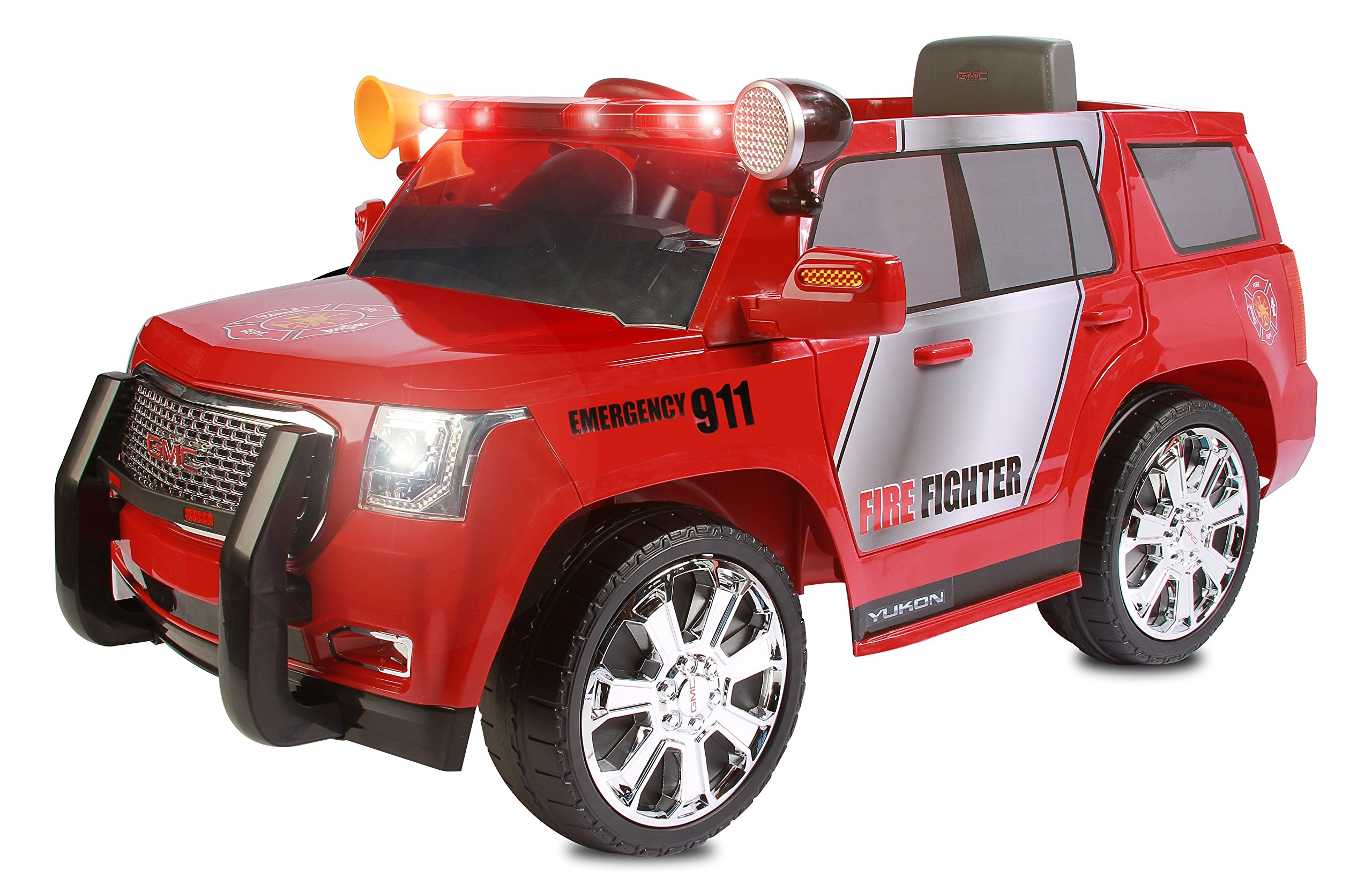 Rollplay GMC Yukon Denali 6-Volt Battery Powered Ride-On, Fire Rescue