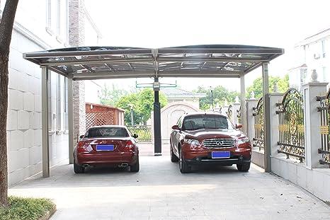 20 x 18 Premium policarbonato de aluminio garaje marquesina de garaje de Aluminio Durable con canalón metal Vehículo refugio para coche, Yacht y Copter, también es el lujo para Patio: Amazon.es: Jardín