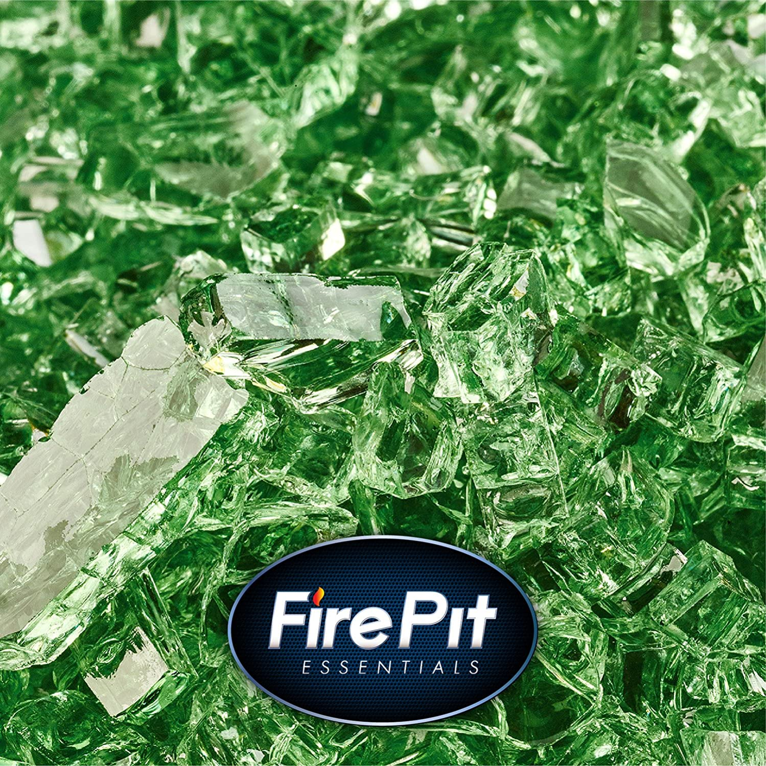 Citron - Fire Glass for Indoor and Outdoor Fire Pits or Fireplaces   10 Pounds   1/4 Inch, Reflective Fire Pit Essentials