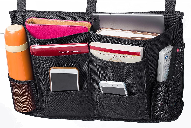 MISSLO Bedside Storage Caddy Hanging Organiser for Bunk Beds, Hospital Beds, Bed Rails, Dorm Rooms