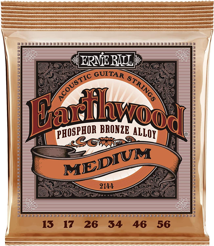 Cuerdas de guitarra acústica de Phosphor Bronze de Ernie Ball Earthwood Medium - 13-56 Gauge