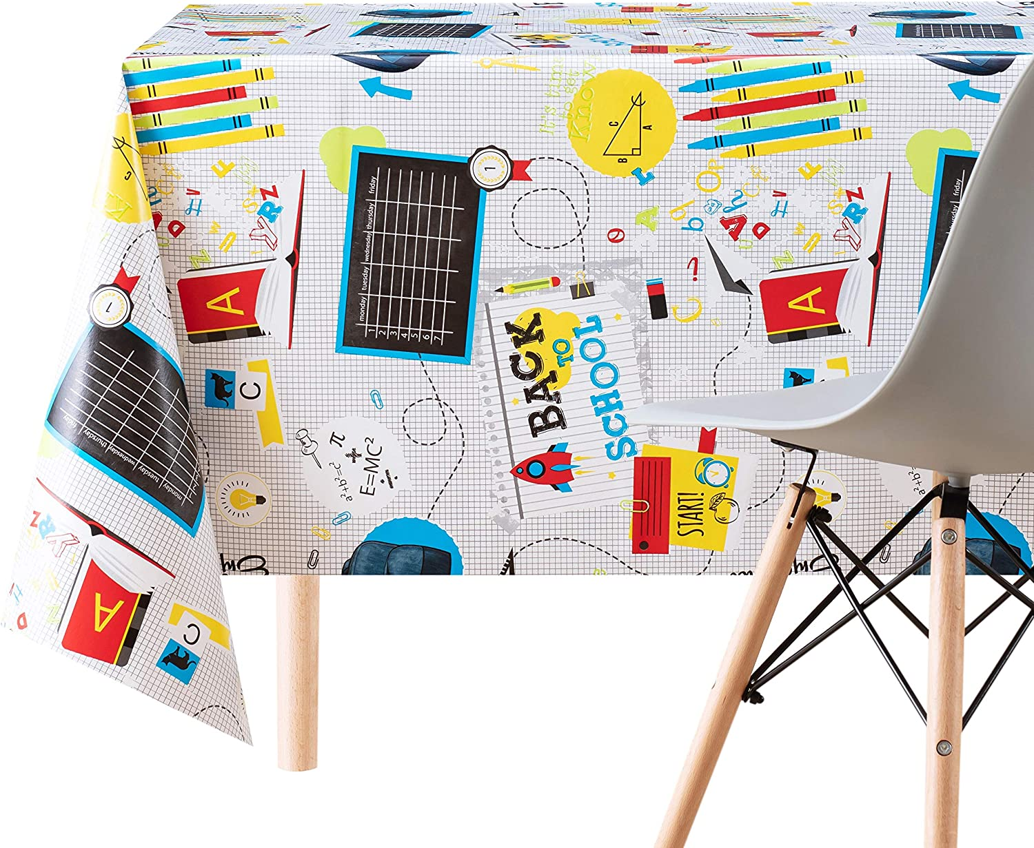 Reusable Colourful And Fun Kids Pvc Wipe Clean Oilcloth Tablecloth 200x140cm Thick Rectangular Wipeable Vinyl Plastic Table Cloth With Glossy Finish Great For Children School Amazon Co Uk Kitchen Home
