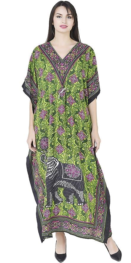 SKAVIJ Blusas de Playa de caftán Largo para Mujer Bikini de Kimono Cardigan Cover Kaftan: Amazon.es: Ropa y accesorios