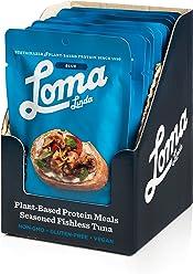 Loma Linda Blue - Vegan Meal Solution - Lemon Pepper Fishless Tuna (3 oz.) (Pack of 12) - Non-GMO, Gluten Free