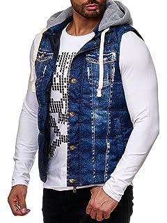 07966c61ed13 Redbridge Red Bridge Herren Weste Jeans Jacke Look Print Stepp R41463 Jacke  ärmellos gefüttert Slimfit mit