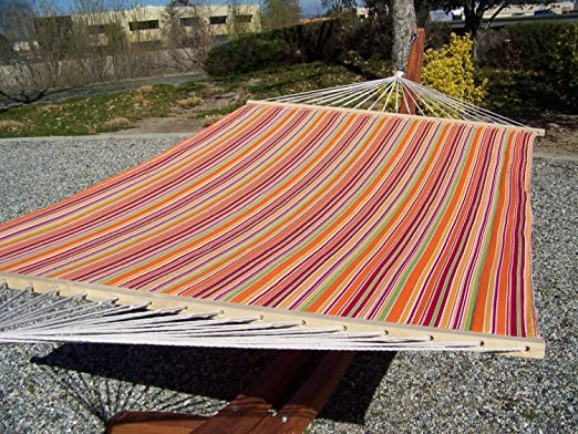 blue stand hammock padded with hammocks heavenly pillows pin chair