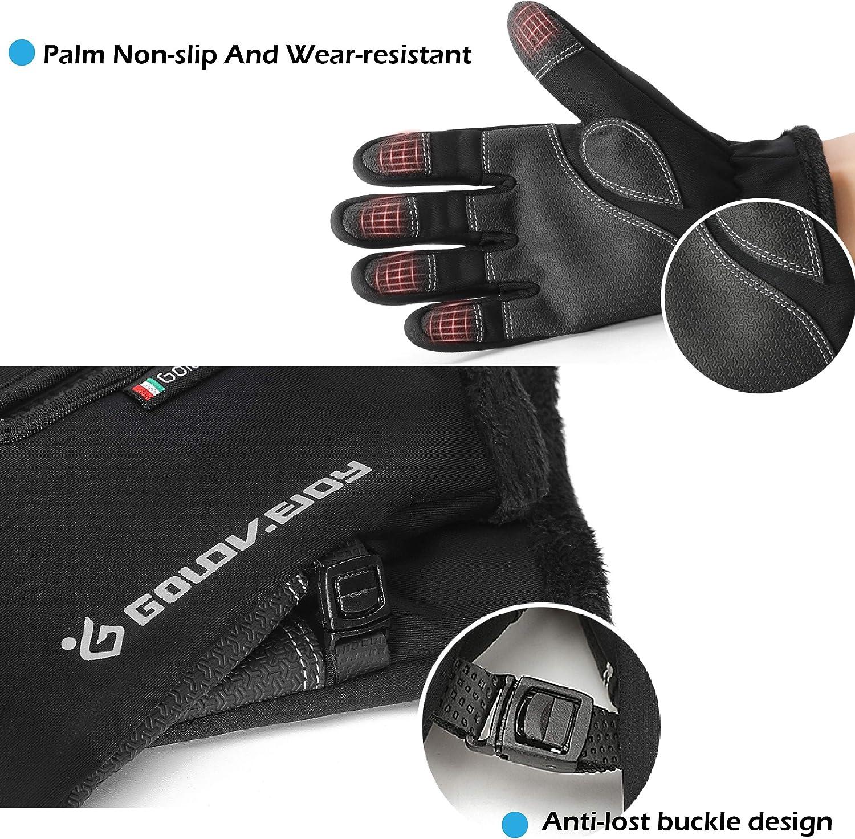 TRIWONDER Winter Touchscreen Gloves Waterproof Cold Weather Ski Snow Running Warm Gloves for Kids Men and Women