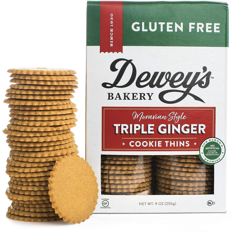 Dewey S Bakery Gluten Free Triple Ginger Moravian Style Cookie Thins Certified Gluten Free