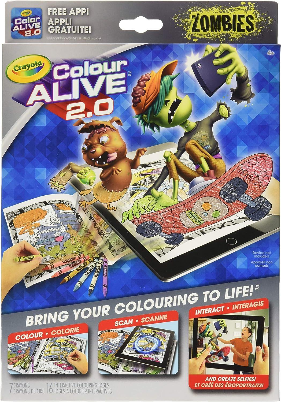 - Amazon.com: Zombies Crayola Color Alive 2.0 Interactive Coloring