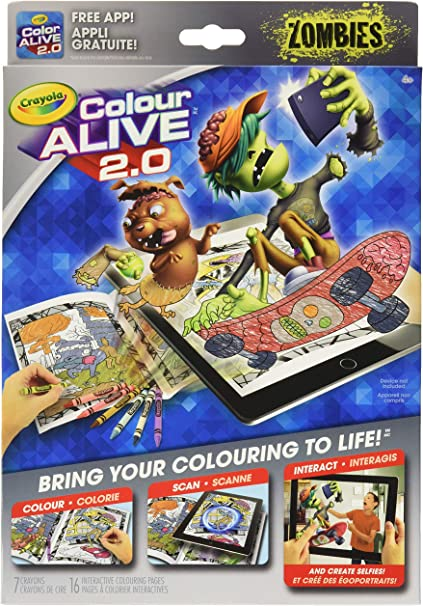 - Amazon.com: Zombies Crayola Color Alive 2.0 Interactive Coloring Book,  Crayola Crayons And Mobile App Set: Toys & Games