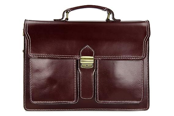 319fb3e46d70d Leder Businesstasche Arbeitstasche Messenger Aktentasche Lehrertasche  Laptoptasche unisex