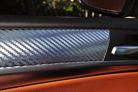T/ürleisten Alu geb/ürstet silber Interieurleisten 3D Folien SET 100/µm stark Mittelkonsole Aschenbecher passend f/ür Ihr Fahrzeug 12 tlg
