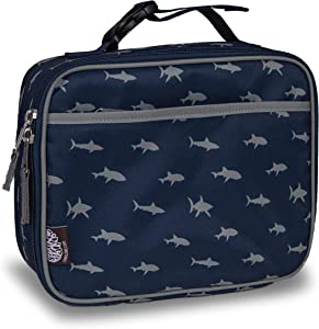 LONECONE Kids' Insulated Fabric Lunch Box - Cute Patterns for Boys and Girls, Sharks, Standard