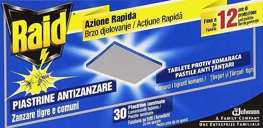 6 opinioni per Raid Piastrine Zanzare Ricarica- 4 confezioni da 30 pezzi [120 pezzi]