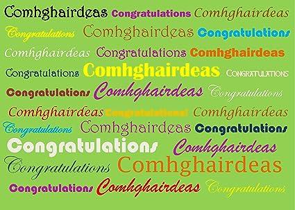 Amazon congrats an irish and english language greeting card an irish and english language greeting card congratulations m4hsunfo