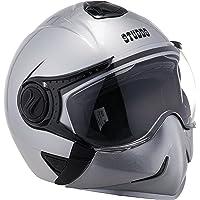 Studds Full Face Helmet Downtown (Silver Grey, L)