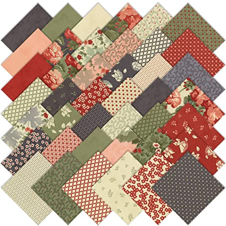 Moda Front Porch Precut 5inch Charm Pack Cotton Fabric Quilting