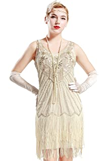 babeyond women s flapper dresses 1920s v neck beaded fringed great