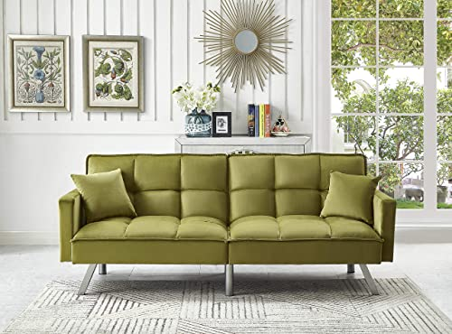Legend Furniture Comfortable Velvet Sleeper Sofa Bed Sofabed