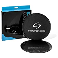 Starwood Sports ® Disques glisseurs - double-face pour moquette ou sol dur - idéal pour core training/fitness/aérobic/CrossFit/entrainement du corps entier/préparation physique