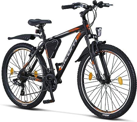 Bicicleta de montaña Licorne Bike Effect de 26 pulgadas, cambio Shimano de 21 velocidades, suspensión de horquilla, bicicleta para niños y hombre, ...