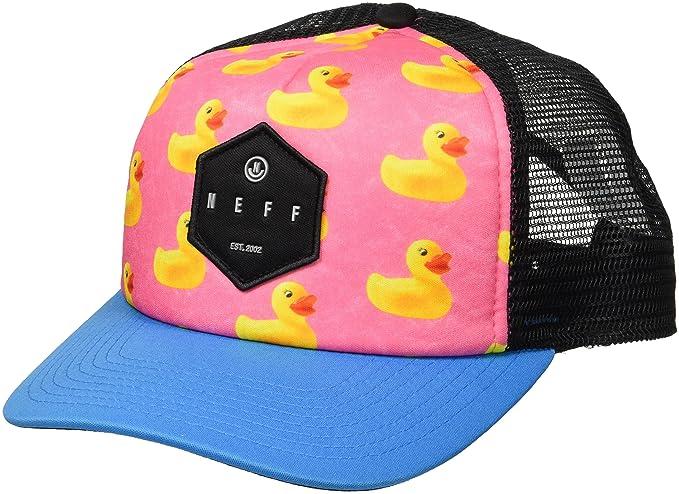 b8b786de NEFF Men's Hot Tub Mesh Hat-Flat Billed Trucker Cap, Ducky, One Size