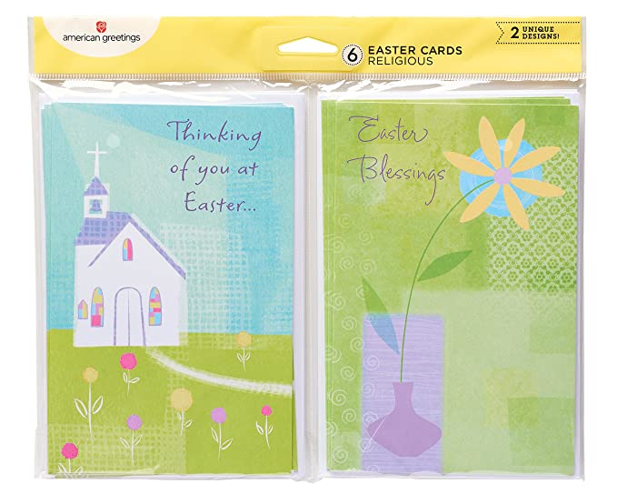 Amazon american greetings religious easter cards 6 count amazon american greetings religious easter cards 6 count office products m4hsunfo