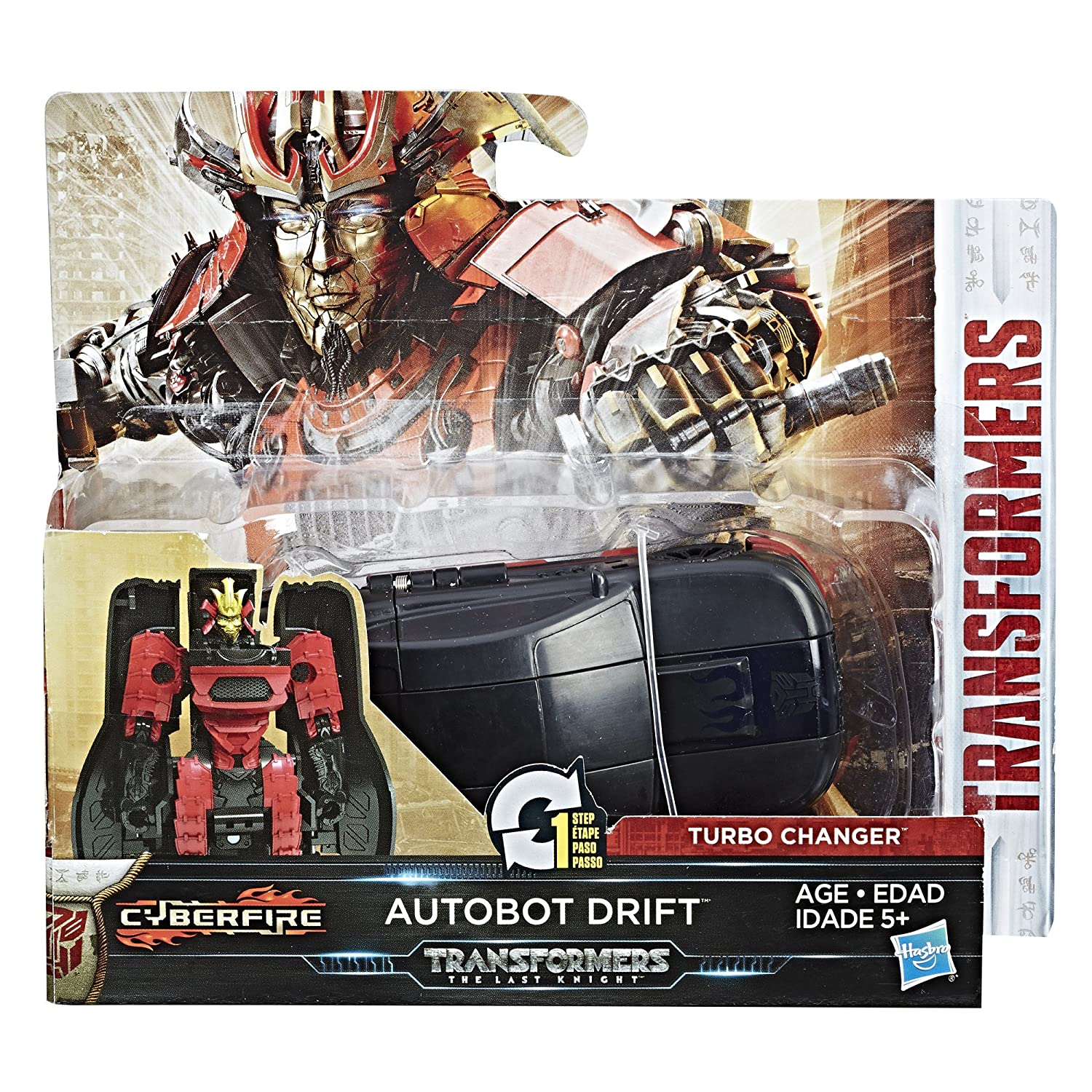 Amazon.com: Transformers: The Last Knight 1-Step Turbo Changer Autobot Drift: Toys & Games