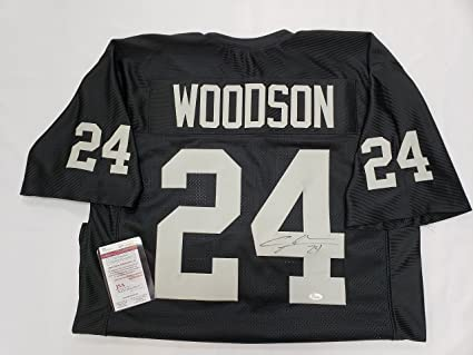 sports shoes 43a81 16db3 Charles Woodson Signed Oakland Raiders Jersey at Amazon's ...