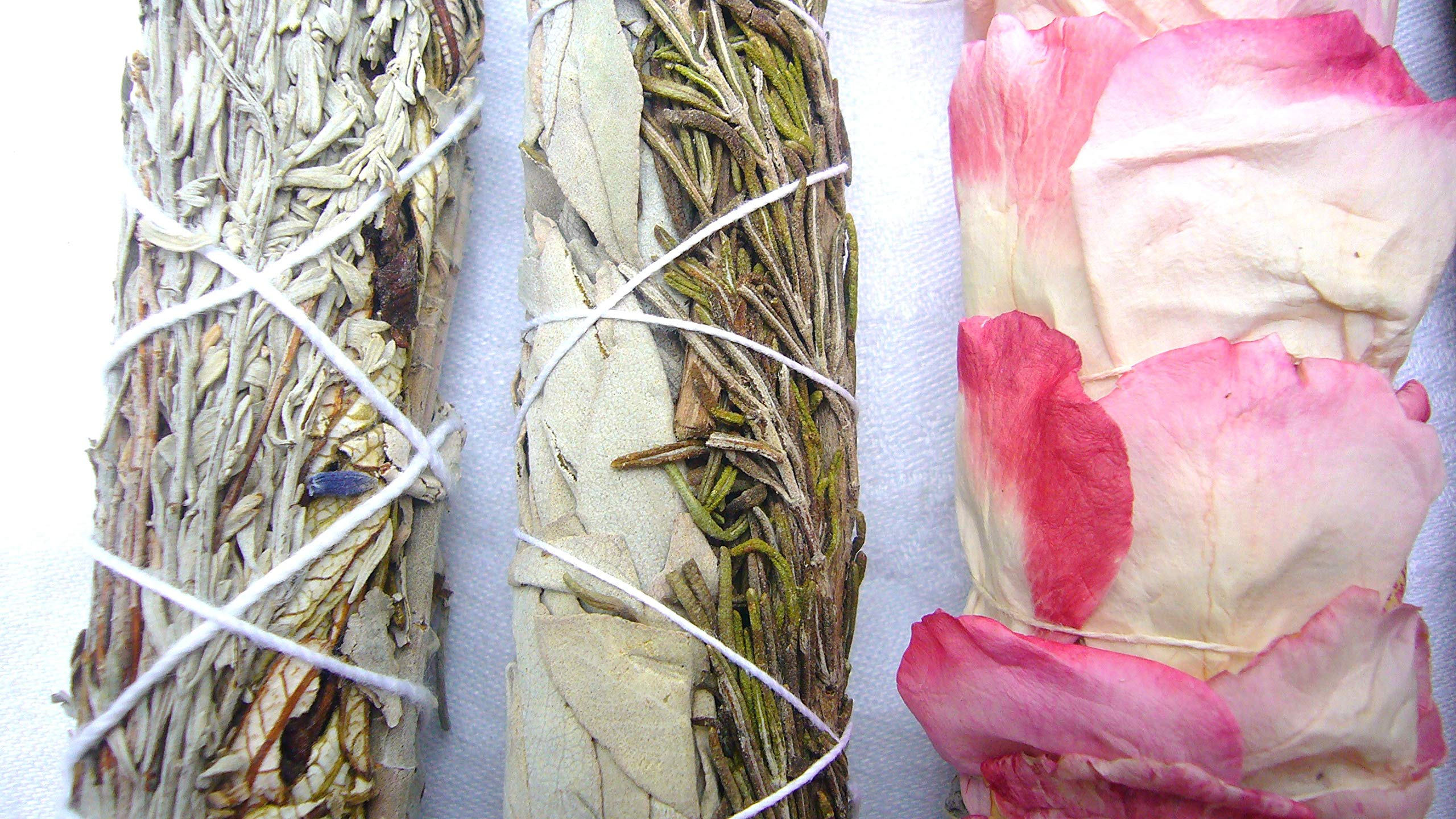 L'AMOUR yes! Luxury Smudge Kit | Rose White Sage, Rosemary, Lavender Smudge Stick, Yerba Santa & Blue Sage, White Sage, Palo Santo, Crystal Candle | Home Cleansing, Blessing, Manifesting, Rituals by L'AMOUR yes! (Image #2)