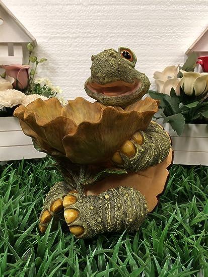 Amazon.com: Sentado tortuga W/Flor Comedero para pájaros ...