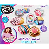 Cra Z Art 17696 Shimmer & Sparkle Metallic Madness Rock Art Crafts Kits