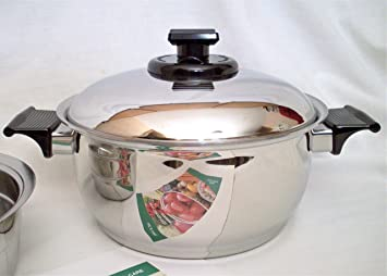 West Bend RENA WARE Nutri Plex 5 Ply Stainless Steel 4 Quart 9 3/4""