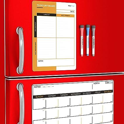 Calendario magnético para nevera con planificador mensual y lista ...