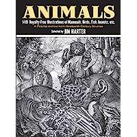 Animals: 1,419 Copyright-Free Illustrations of Mammals, Birds, Fish