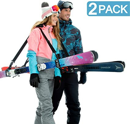 Nylon Ski Snowboard Bag Carrier Strap Holder Hook and Loop Snowboarding Powder Skis Strap Snowboarding Accessory Ski Strap