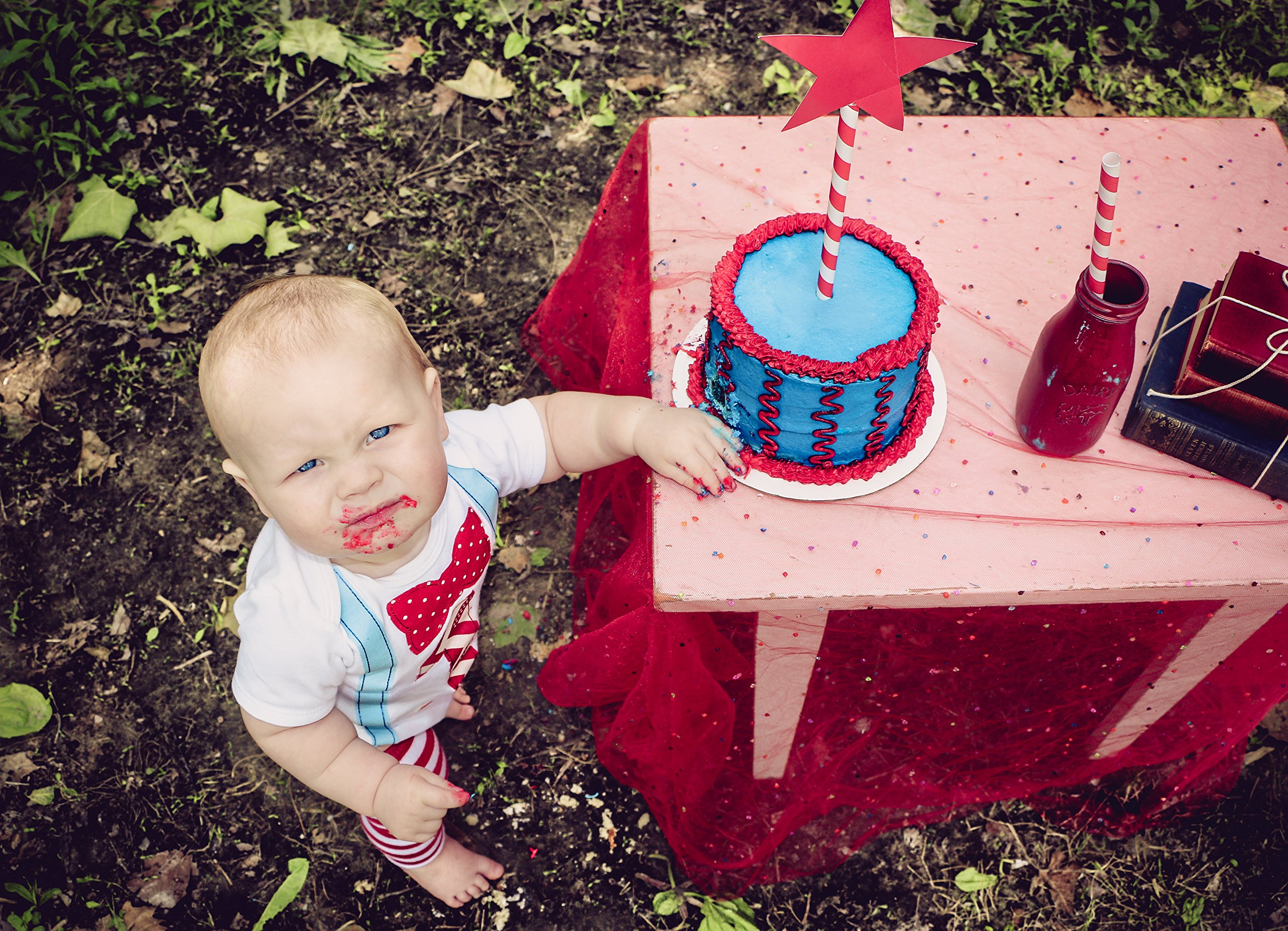 Memorable First Birthday Outfit Set Cake Smash Set Party Baby Boys 12-18 mnths by Birdy Boutique (Image #2)