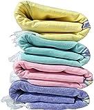 Fancyadda Khadi Handloom Cotton Bath Towels Full Size for Women & Men (Set of 4, Plain Colors Pattern, Extra Large, 2.83 feet x 5.83 feet)