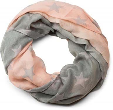 styleBREAKER snood rond avec étoiles et dégradé de couleur, écharpe, tissu,  femme 01016125 b7bfb0cfb87