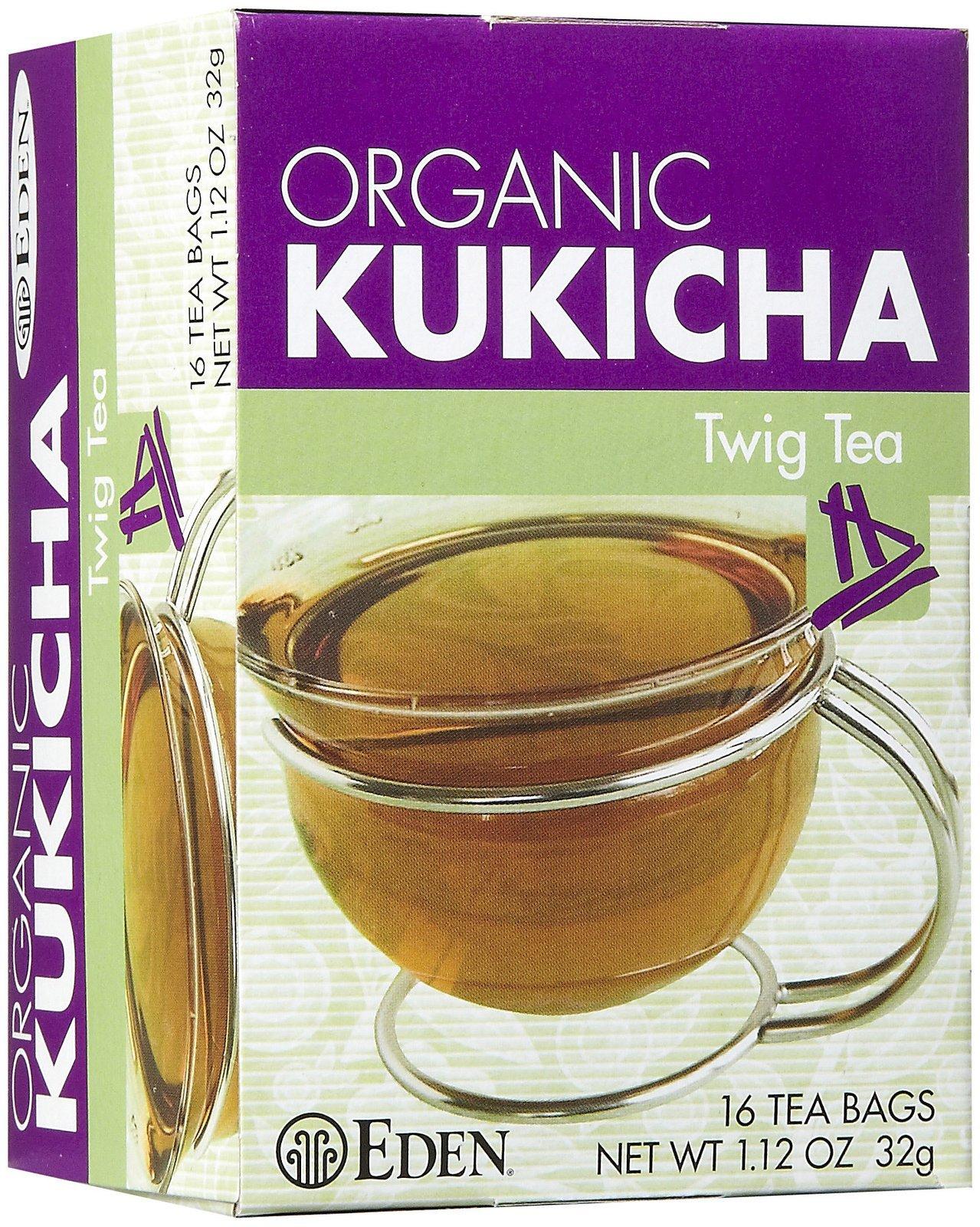 Eden Twig Tea, Tea Bags, Kukicha, Organic 1.12 oz Boxes, 12 pk