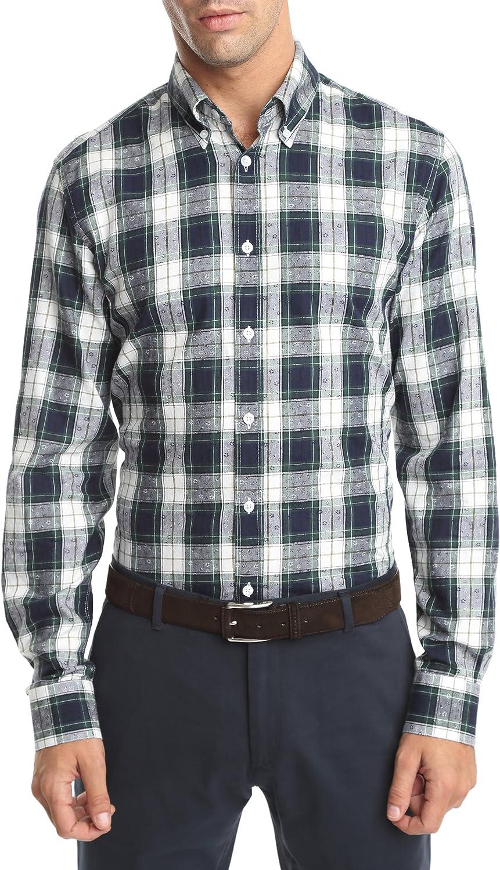 Caramelo, Camisa Semivestir Button Down Con Tira Para Arremangar, Hombre · Verde Musgo, talla XXL: Amazon.es: Ropa y accesorios