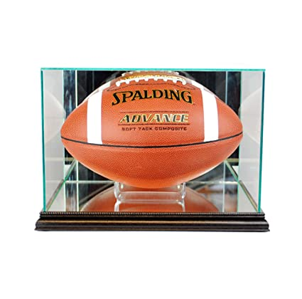 f9c98d2418b Amazon.com   Perfect Cases NFL Rectangle Football Glass Display Case ...