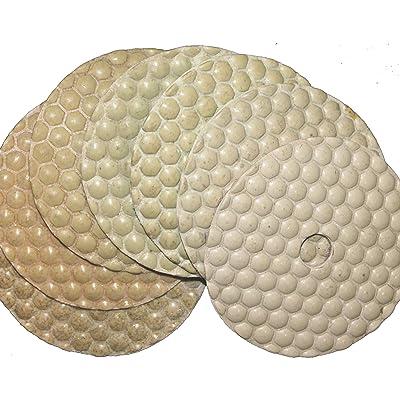 "STADEA 4"" Diamond Polishing Pads Dry 7 pcs Set For Concrete Granite Marble Terrazzo floor polishing: Home Improvement"