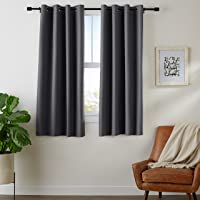 AmazonBasics Room-Darkening Blackout 52-in. x 63-in. Curtain Set with Grommets