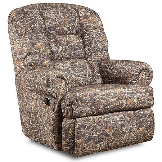 6963aa74f Amazon.com: Flash Furniture Big & Tall 350 lb. Capacity Gazette Basil  Microfiber Recliner: Kitchen & Dining