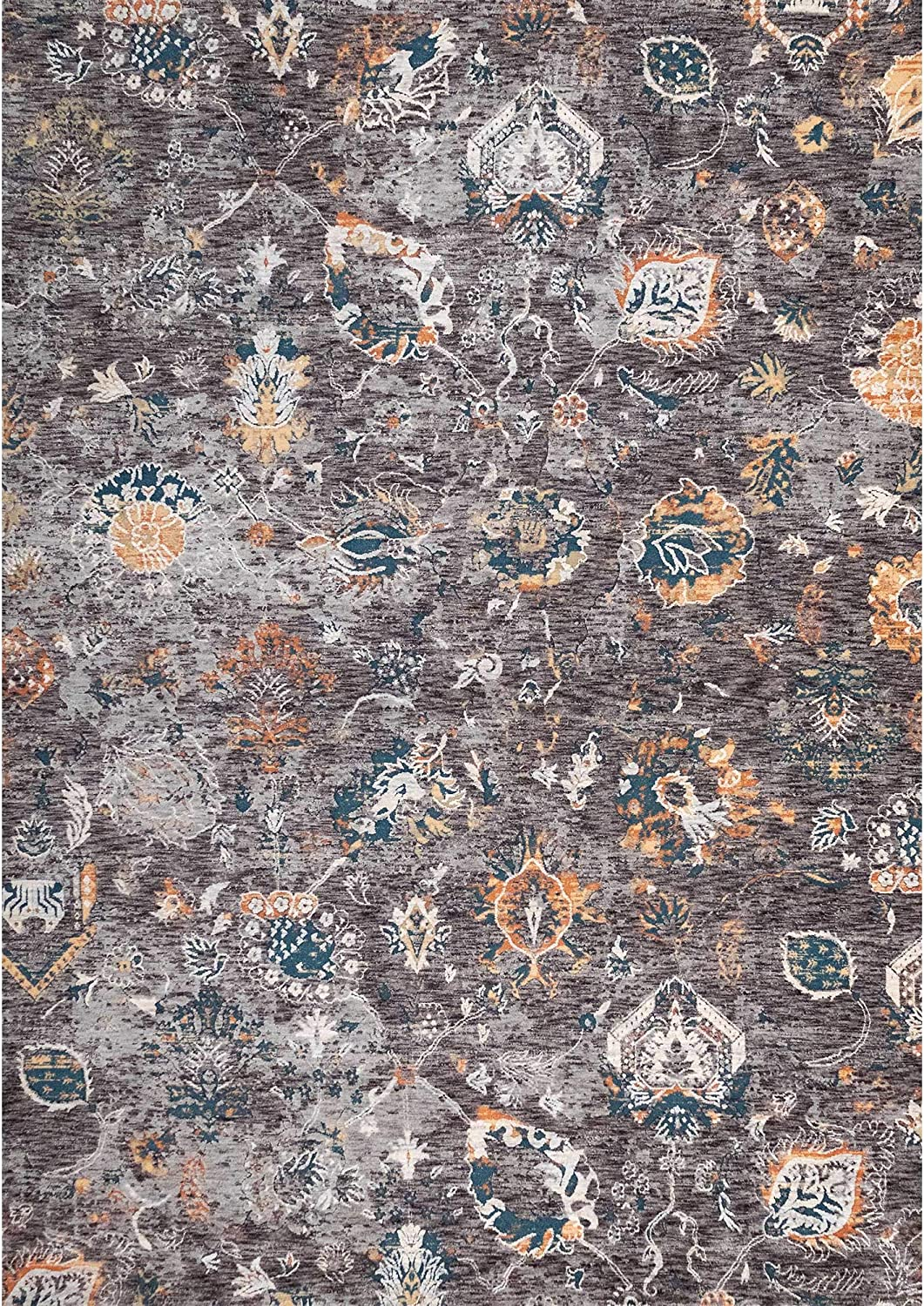 Liora Manne Jasmine Floral Brown Indoor Blue X Complete Free Shipping Rug Memphis Mall 39
