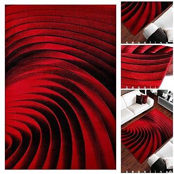 Ausgefallene Teppiche ausgefallene wohnzimmer teppiche mit modernem 3d muster in schwarz