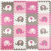 Tadpoles Playmat Set, Elephants, White/Hearts/Pink/Grey