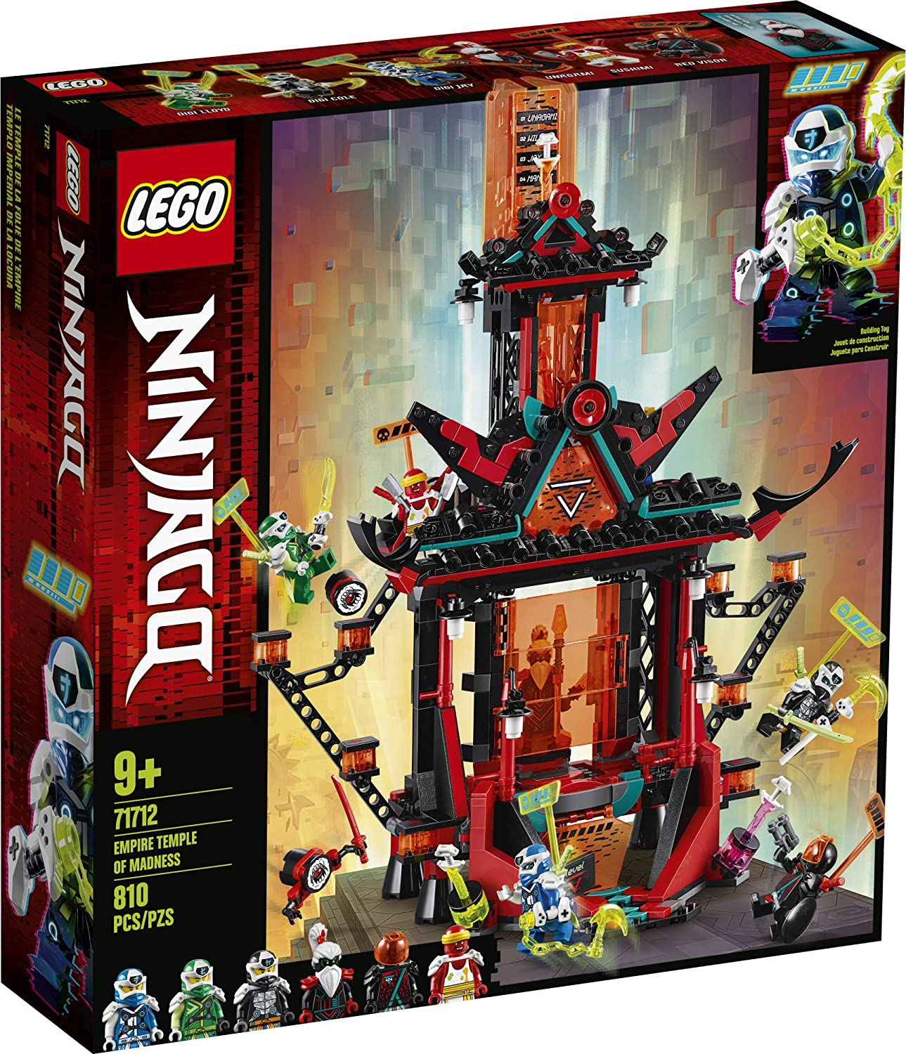 Amazon.com: LEGO NINJAGO Empire Temple of Madness 71712 ...