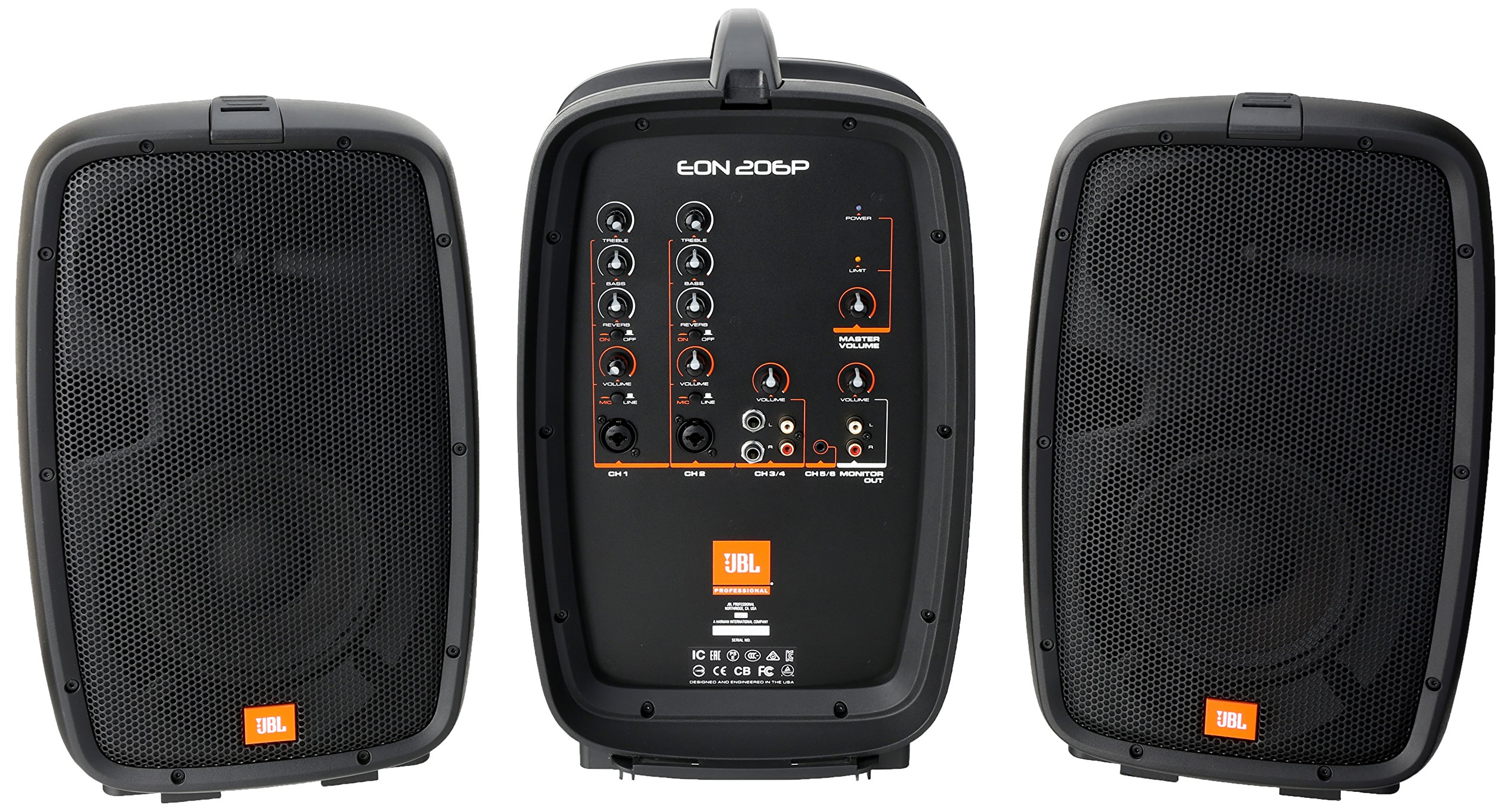 JBL EON206P Portable All-in-One 2-way PA System with 6-Channel Mixer by JBL